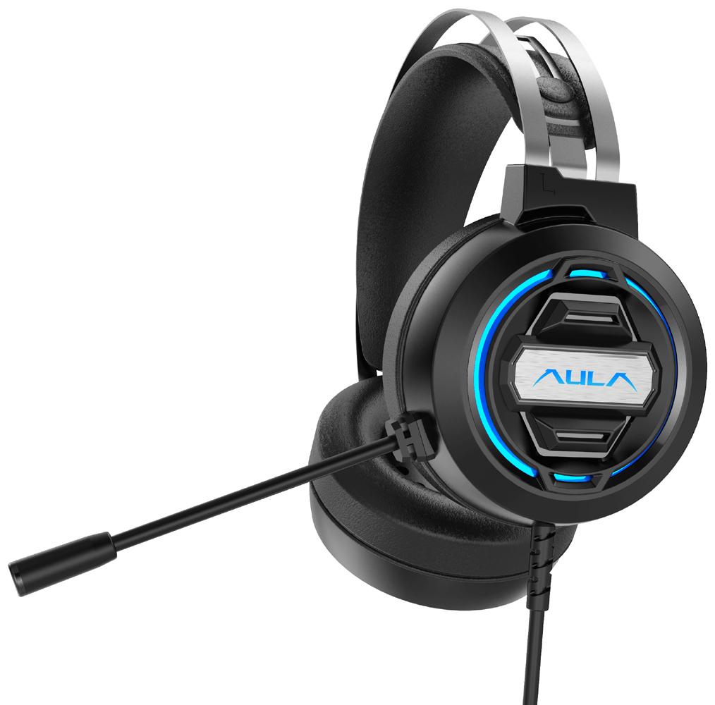 AULA gaming headset S603USB, RGB, USB, 50mm, μαύρο - AULA 36561