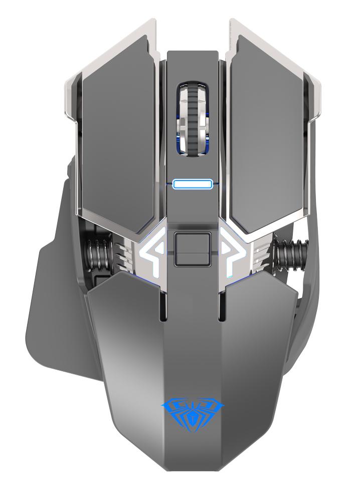 AULA ασύρματο gaming ποντίκι Wind SC300, 1200DPI, 7 πλήκτρα, ασημί - AULA 34372