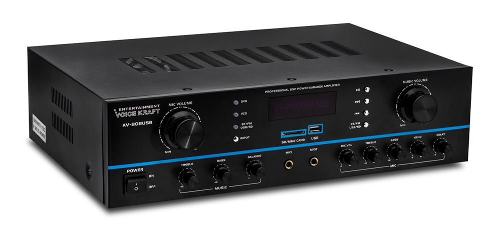 VOICE KRAFT ενισχυτής ηχείου AV-808USB, 200W RMS, bluetooth/USB/SD/FM - VOICE KRAFT 26687