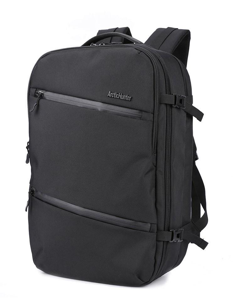 ARCTIC HUNTER τσάντα πλάτης B-00184, laptop, USB-3.5mm, αδιάβροχη, μαύρη - ARCTIC HUNTER 22827
