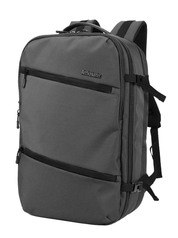 ARCTIC HUNTER τσάντα πλάτης B-00184, laptop, USB-3.5mm, αδιάβροχη, γκρι - ARCTIC HUNTER 22828