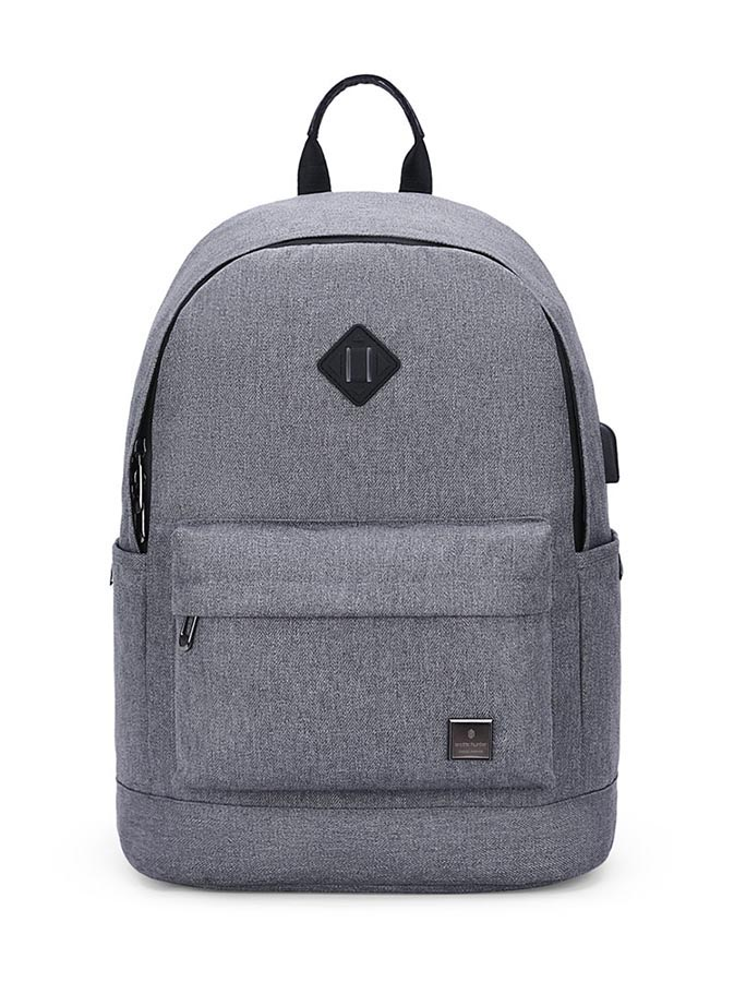 ARCTIC HUNTER τσάντα πλάτης B-00290-LG με θήκη laptop, ανοιχτό γκρί - ARCTIC HUNTER 22788
