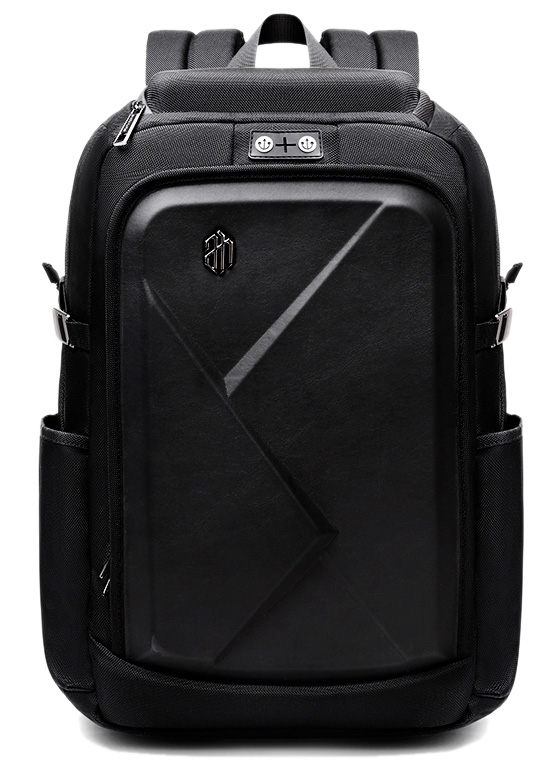 ARCTIC HUNTER τσάντα πλάτης B-00295-BK με θήκη laptop eva πρόσοψη, μαύρη - ARCTIC HUNTER 24397