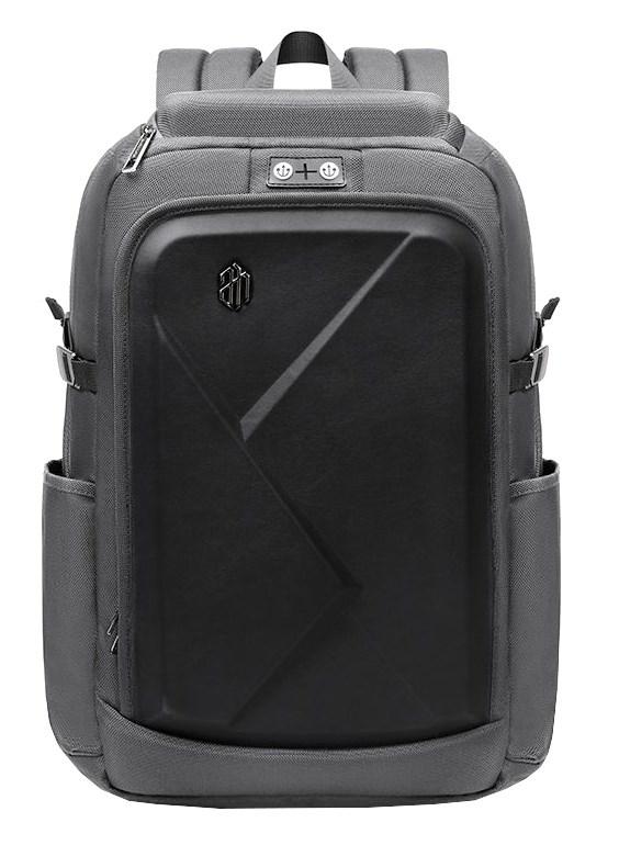 ARCTIC HUNTER τσάντα πλάτης B-00295-GY με θήκη laptop eva πρόσοψη, γκρι - ARCTIC HUNTER 24398