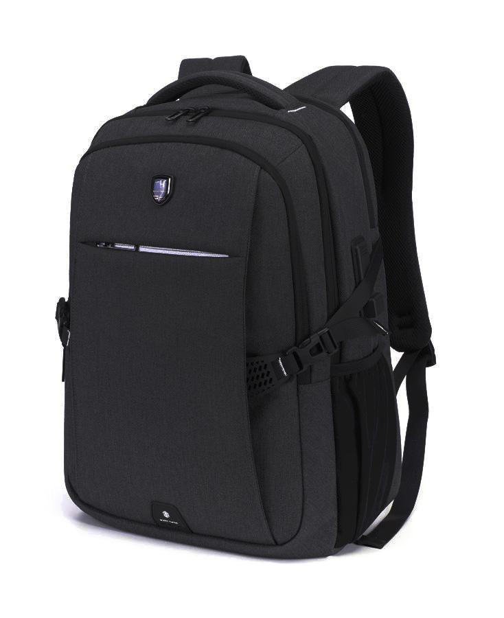 ARCTIC HUNTER τσάντα πλάτης B-00338-BK με θήκη laptop, USB, μαύρη - ARCTIC HUNTER 25944