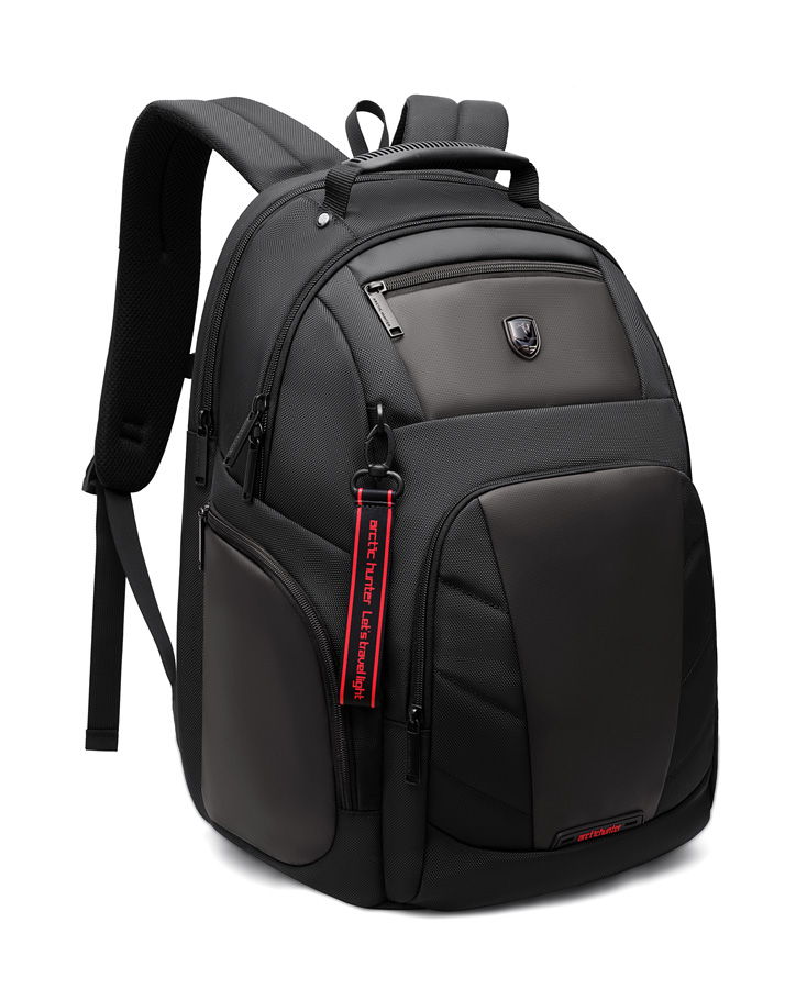 ARCTIC HUNTER τσάντα πλάτης B-00341-BK με θήκη laptop, μαύρη - ARCTIC HUNTER 25931