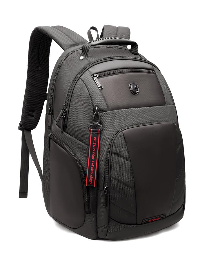 ARCTIC HUNTER τσάντα πλάτης B-00341-GY με θήκη laptop, γκρι - ARCTIC HUNTER 25932
