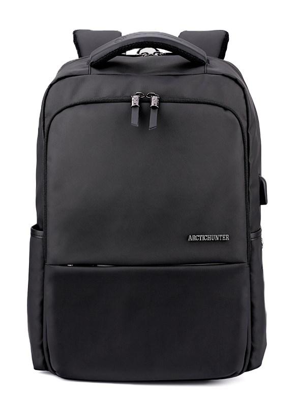 ARCTIC HUNTER τσάντα πλάτης B00069-BK, laptop, USB, αδιάβροχη, μαύρη - ARCTIC HUNTER 22825