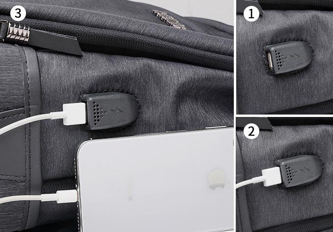 ARCTIC HUNTER τσάντα πλάτης B00107-BK με θήκη laptop, αδιάβροχη, μαύρη - ARCTIC HUNTER 22826