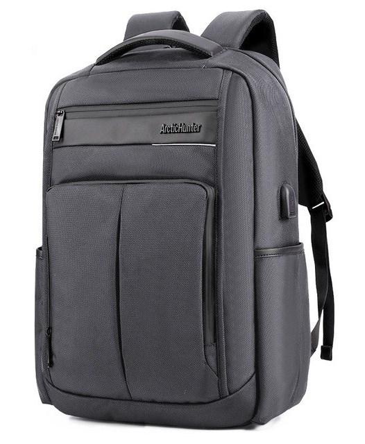 ARCTIC HUNTER τσάντα πλάτης B00121C-GY, laptop, USB, αδιάβροχη, γκρι - ARCTIC HUNTER 22822