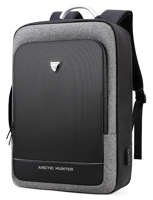 ARCTIC HUNTER τσάντα πλάτης B00227-DG με θήκη laptop,  σκουρο γκρί - ARCTIC HUNTER 24390