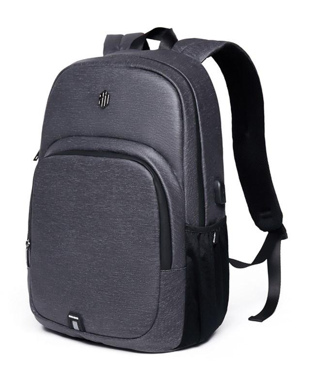 ARCTIC HUNTER τσάντα πλάτης B00249-DG με θήκη laptop αδιάβροχη, γκρι - ARCTIC HUNTER 22793