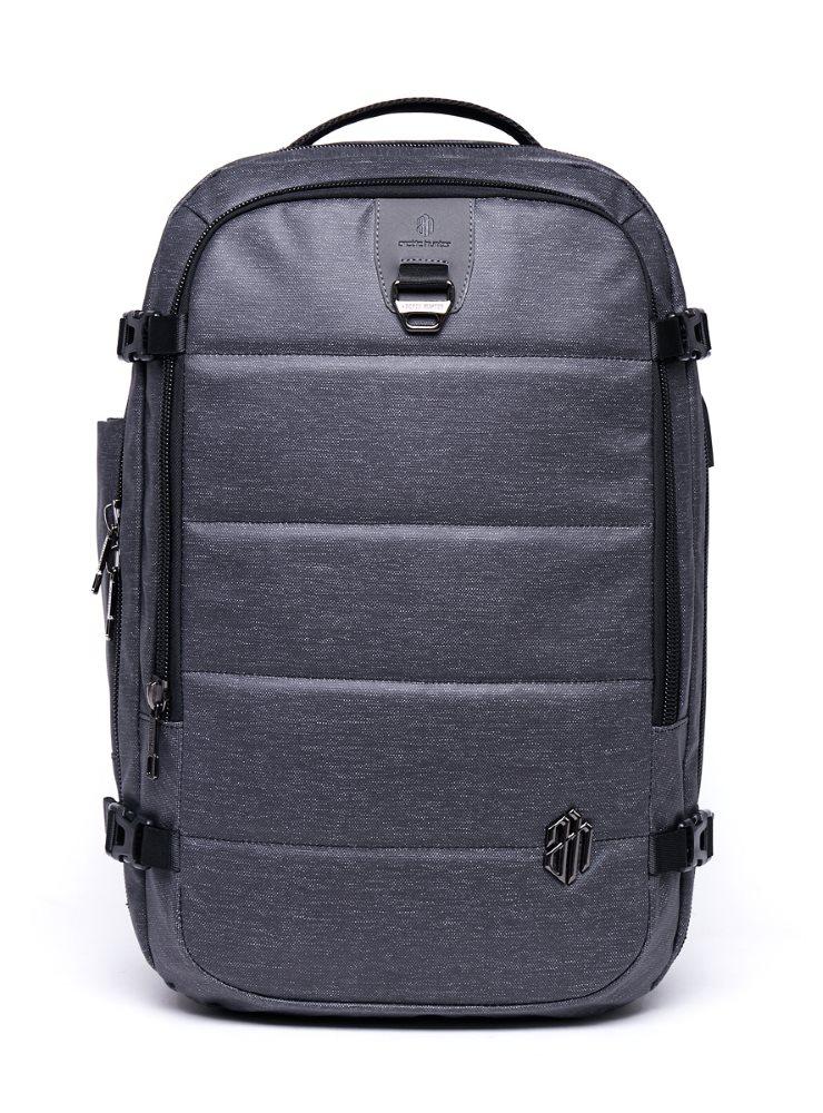 ARCTIC HUNTER τσάντα πλάτης B00260, laptop, USB-3.5mm, αδιάβροχη, μαύρη - ARCTIC HUNTER 22823