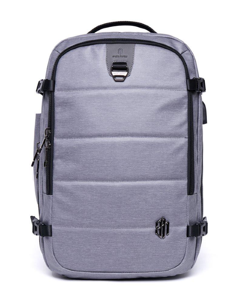ARCTIC HUNTER τσάντα πλάτης B00260, laptop, USB-3.5mm, αδιάβροχη, γκρι - ARCTIC HUNTER 22824