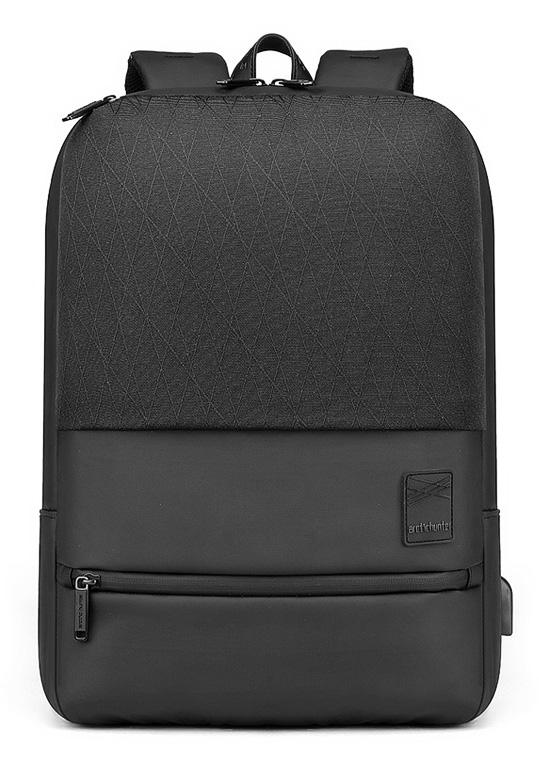 ARCTIC HUNTER τσάντα πλάτης B00360-BK με θήκη laptop, USB, μαύρη - ARCTIC HUNTER 28235