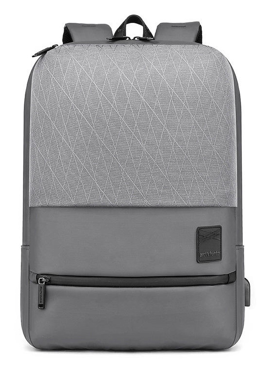 ARCTIC HUNTER τσάντα πλάτης B00360-GY με θήκη laptop, USB, γκρι - ARCTIC HUNTER 28226