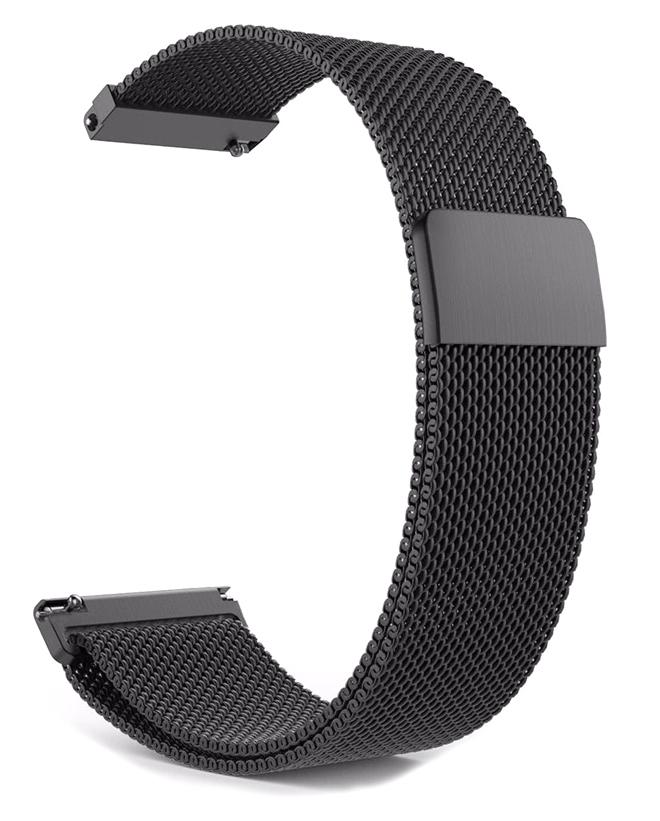 Λουράκι ρολογιού BAND20MMMG-BK, 20mm, μεταλλικό, μαγνητικό, μαύρο - UNBRANDED 28893