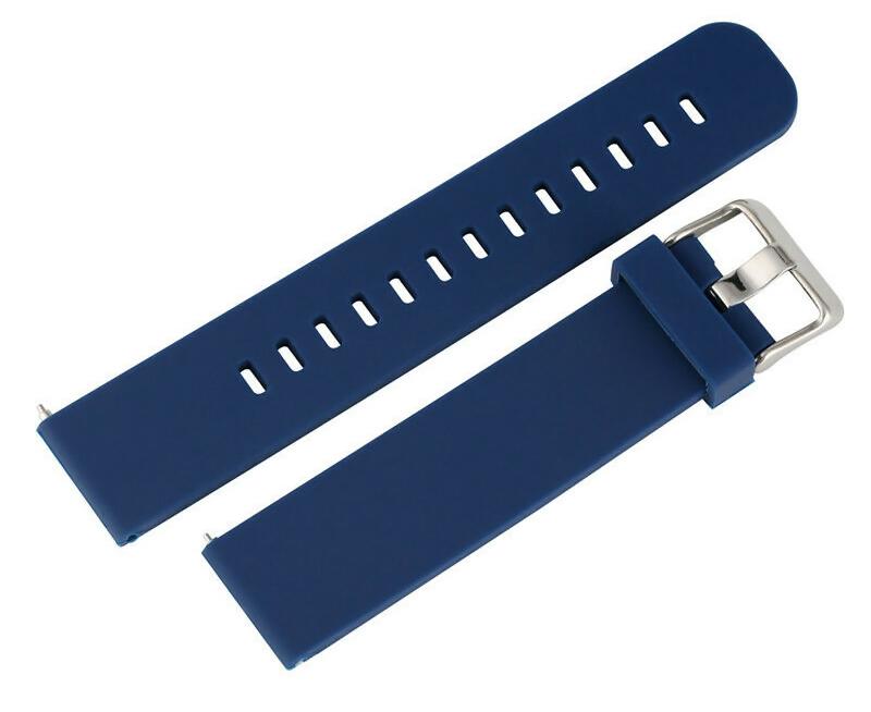 Λουράκι σιλικόνης BAND22MM-BL, 22mm, μπλε - UNBRANDED 31187