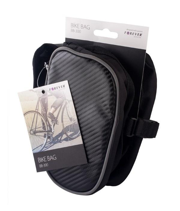 FOREVER Τσάντα ποδηλάτου BB-300,διπλού διαμερίσματος, Βlack - FOREVER 14059
