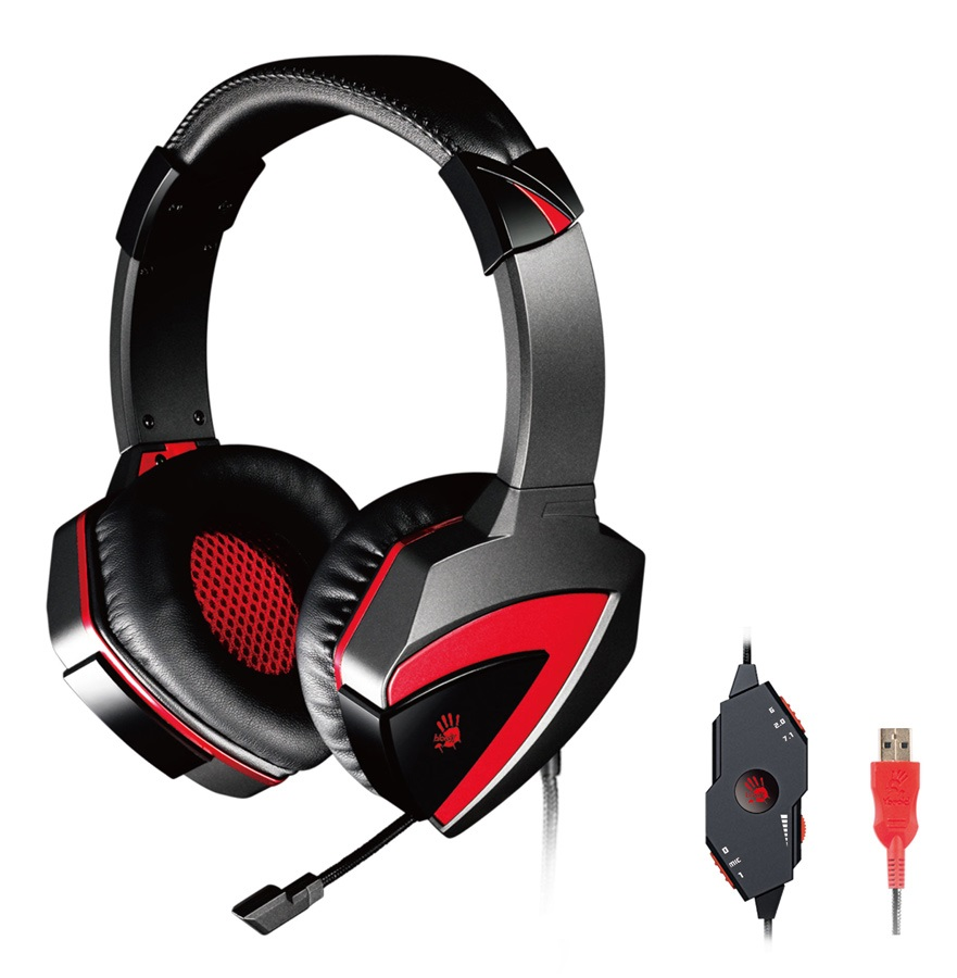BLOODY Gaming Headset BLD-G501, 7.1CH, 40mm, USB, 100dB, μαύρα - BLOODY 26582