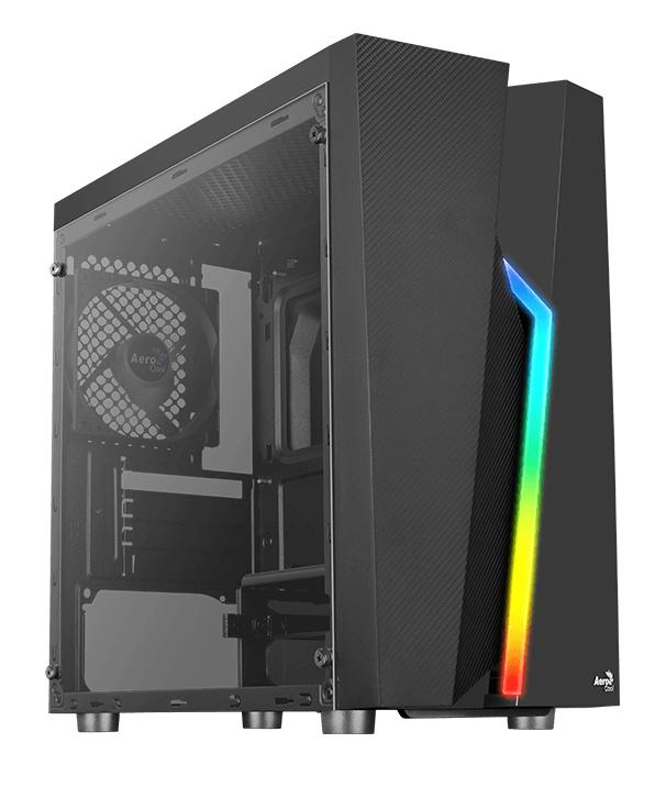 AEROCOOL PC case mini tower BOLT-MINI, 200.7x369.5x381mm, 1x fan, μαύρο - AEROCOOL 43081