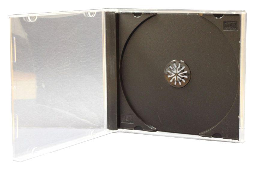 CD/DVD Jewel case, 10.4mm, μαύρο, 100τμχ - UNBRANDED 2559
