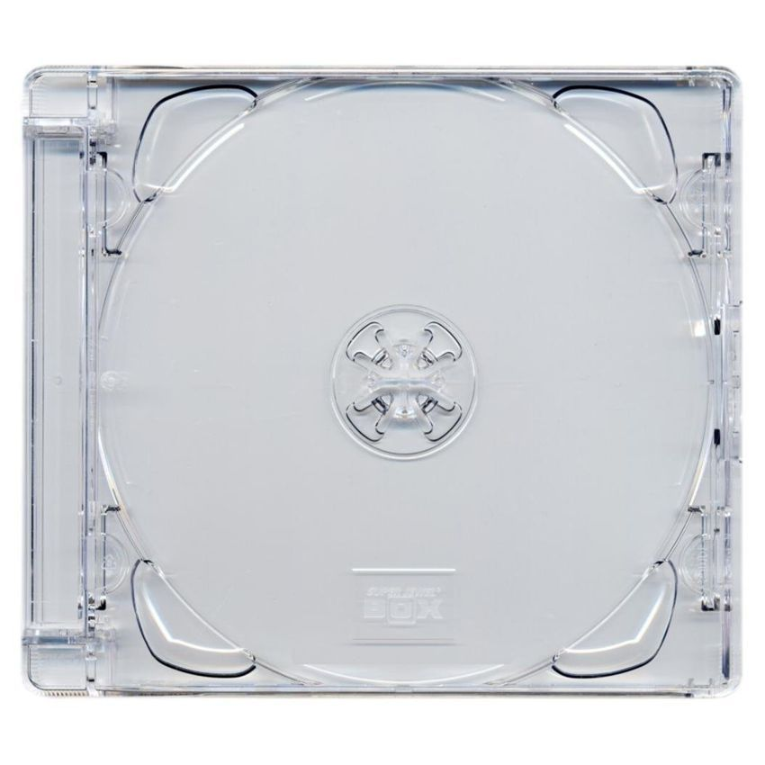 10.4 mm CD jewelcase με CLEAR - 100TEM - UNBRANDED 2551
