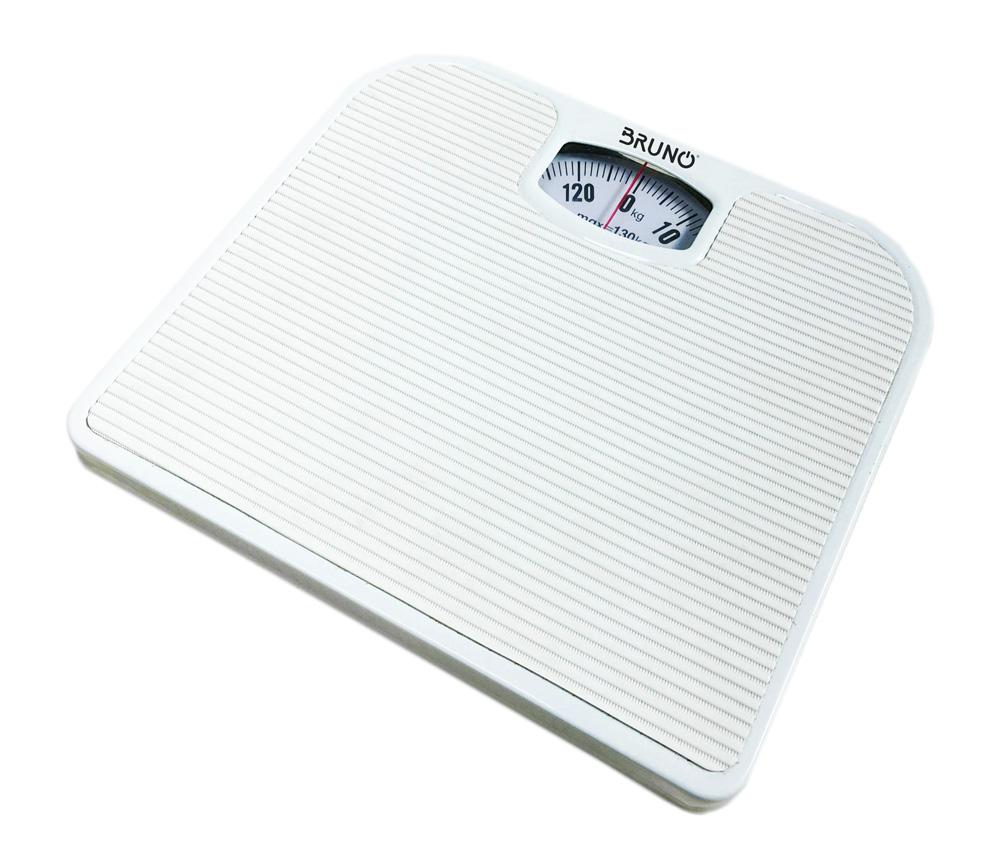 BRUNO Ζυγαριά μπάνιου μηχανική BRN-0009, 130kg max, λευκή - BRUNO 23583