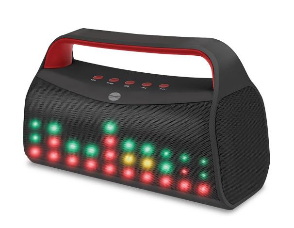 FOREVER BT Φορητό ηχείο BS-610 με LED φωτισμό, FM Radio, Mic, Black - FOREVER 15951