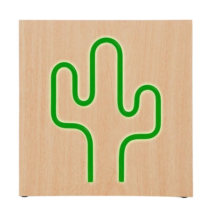 BIGBEN ηχείο Cactus Neon, 15W, bluetooth, ξύλο - BIGBEN 22154