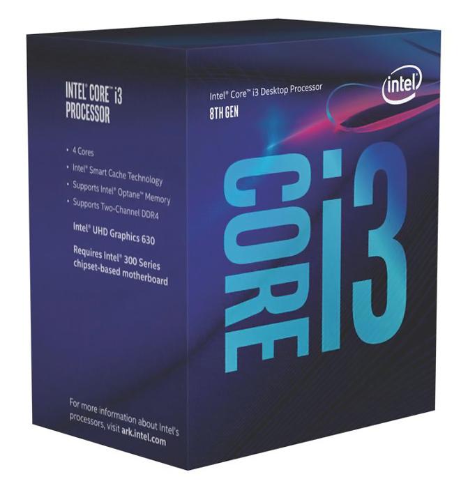 INTEL CPU Core i3-8100, Quad Core, 3.6GHz, 6MB Cache, LGA1151 - INTEL 28391