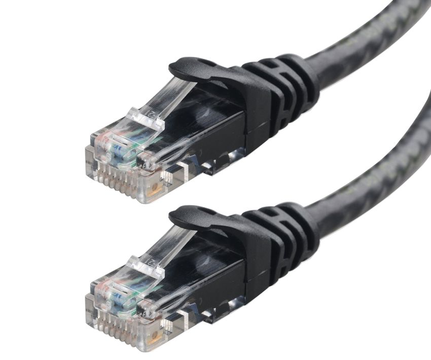 POWERTECH Καλώδιο δικτύου UTP cat 5e, 1m, Black - POWERTECH 4565