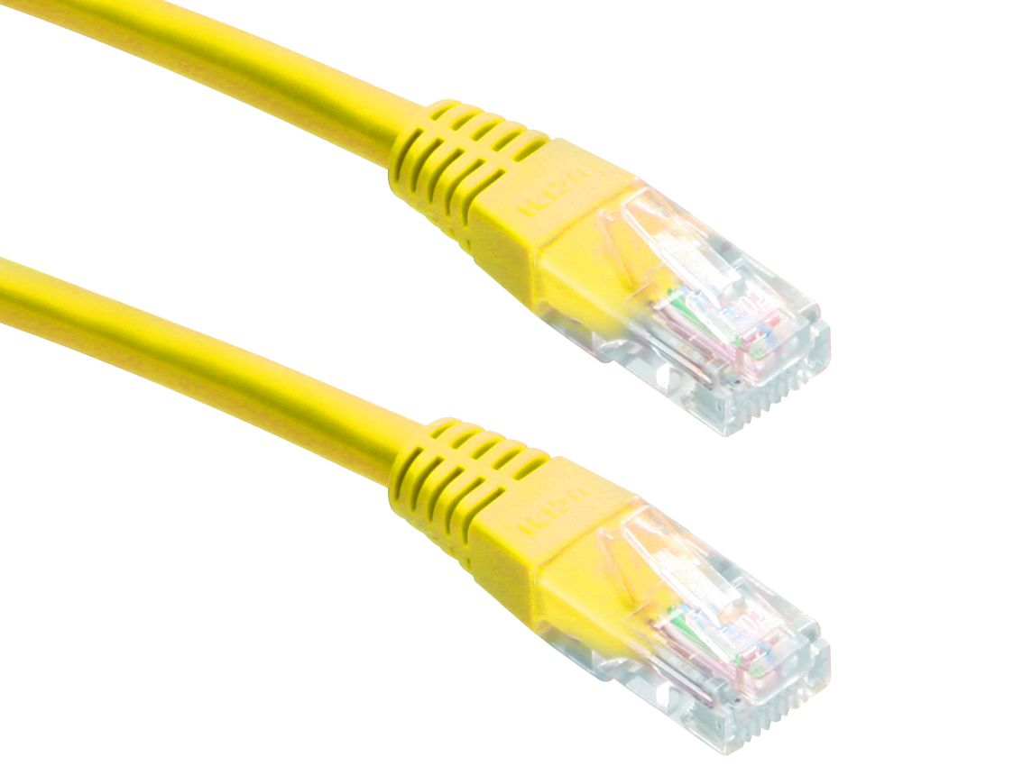 POWERTECH Καλώδιο UTP Cat 5e, CCA, 0.5m, yellow - POWERTECH 10636