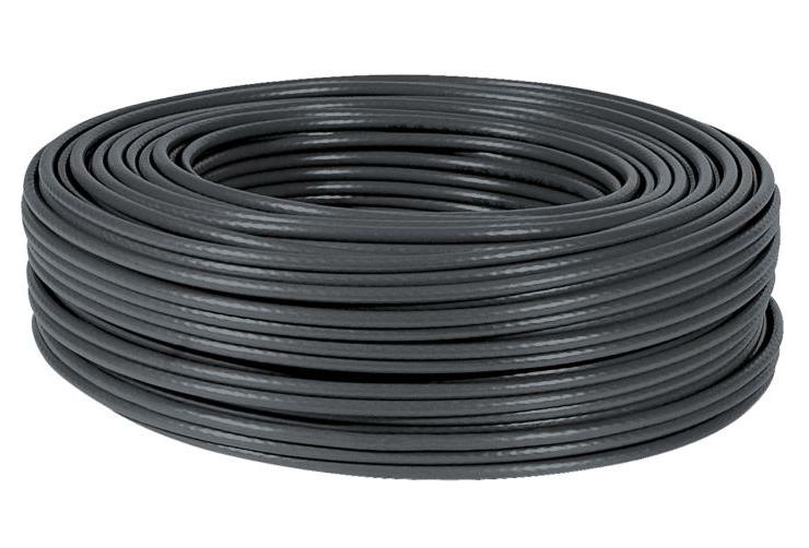 POWERTECH καλώδιο UTP Cat 6e, 26AWG, outdoor, χάλκινο, 100m, μαύρο - POWERTECH 21987
