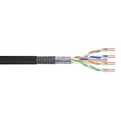 POWERTECH καλώδιο SF/UTP Cat 6e CAB-N157, CCA 24AWG 0.5mm, 305m, μαύρο - POWERTECH 30284