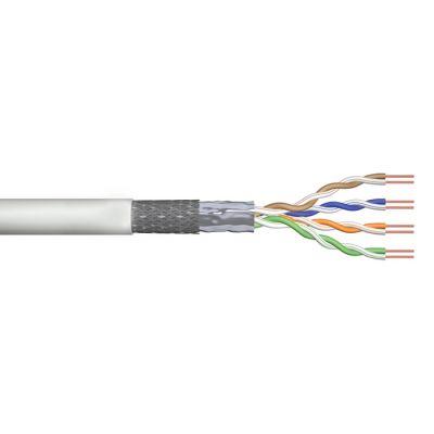 POWERTECH καλώδιο SF/UTP Cat 5e CAB-N158, CCA 26AWG 0.4mm, 100m, γκρι - POWERTECH 30285