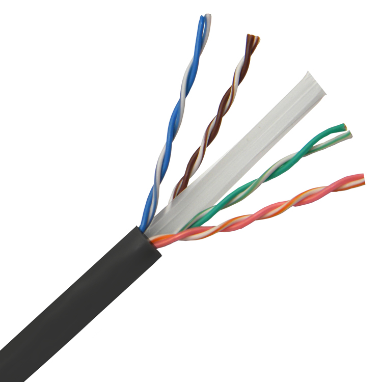 POWERTECH καλώδιο UTP Cat 6e CAB-N180, CCA 24AWG 0.5mm, PVC, 305m, μαύρο - POWERTECH 31472