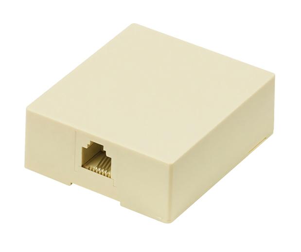 POWERTECH Πρίζα τηλεφώνου CAB-T027, RJ11 6p4c, μπεζ - POWERTECH 26222