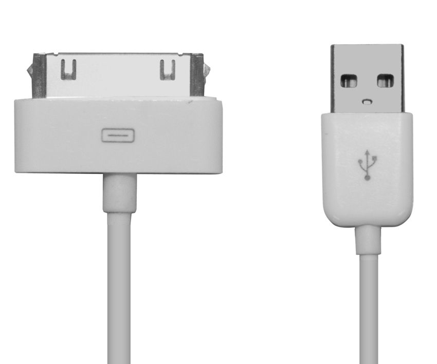 POWERTECH Καλώδιο USB 2.0 σε iPad & iPhone 4/4S, 1m, White - POWERTECH 5801