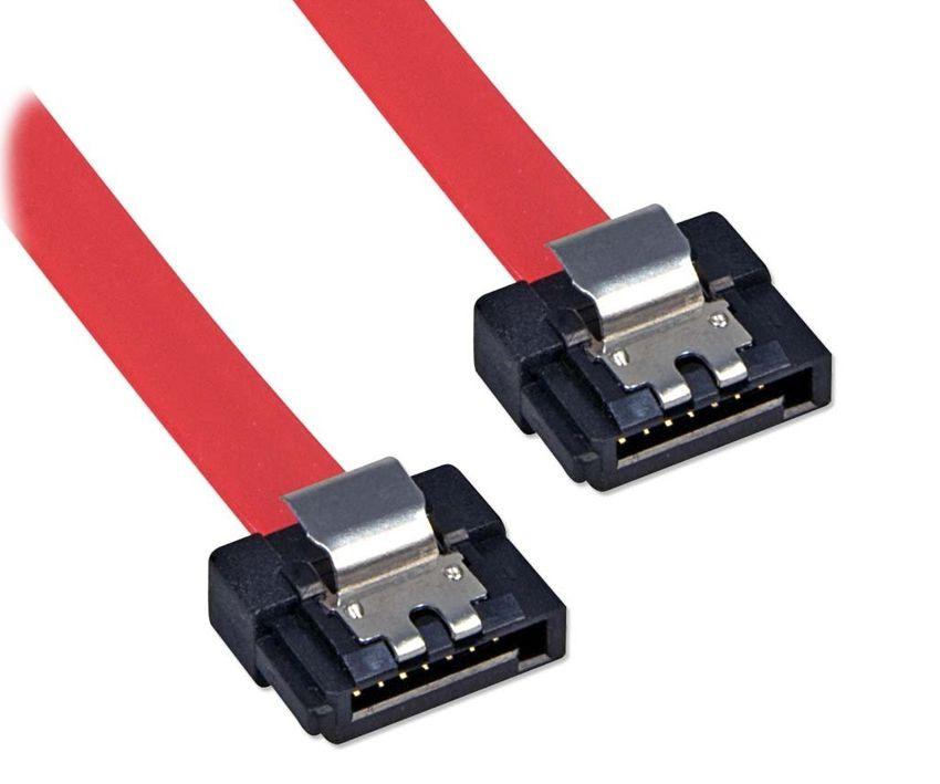 POWERTECH Καλώδιο SATA 7-pin/7-pin, Red, 0.5m - POWERTECH 5716