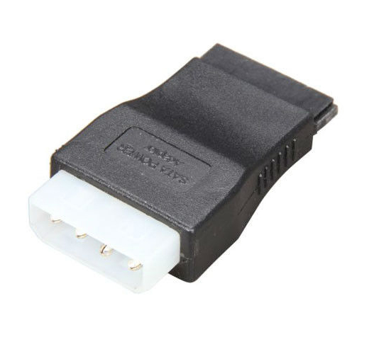 POWERTECH Αντάπτορας από 4pin Molex (F) σε SATA 15-pin (M) - POWERTECH 11539