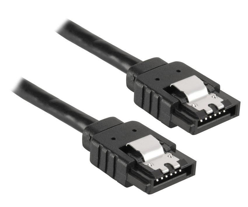 POWERTECH Καλώδιο SATA III 7-pin σε 7-pin, Metal Clip, 0.3m - POWERTECH 18551