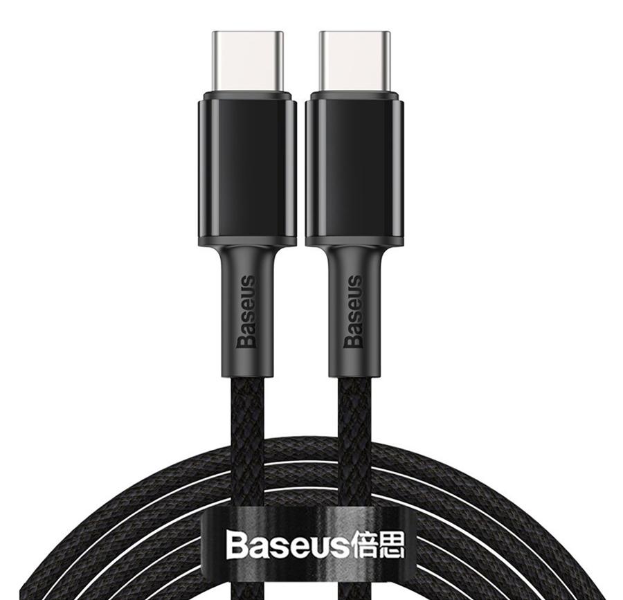 BASEUS καλώδιο USB Type-C CATGD-A01, 5A 100W, 2m, μαύρο - BASEUS 36654