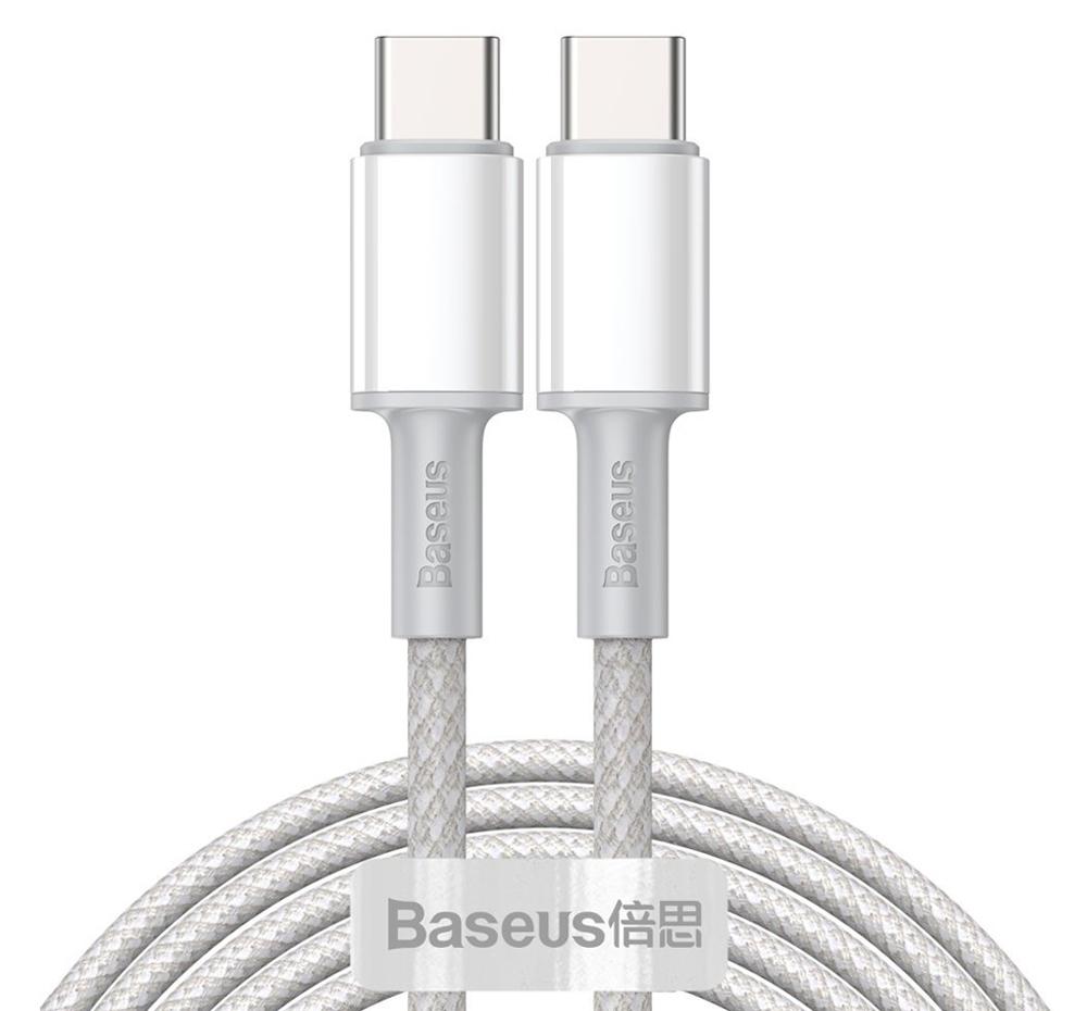 BASEUS καλώδιο USB Type-C CATGD-A02, 5A 100W, 2m, λευκό - BASEUS 36640