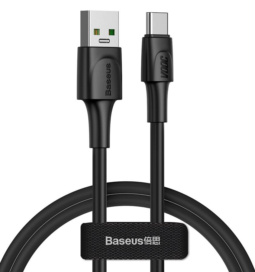 BASEUS καλώδιο USB σε USB Type-C CATSW-F01, VOOC, 5A, 1m, μαύρο - BASEUS 32962