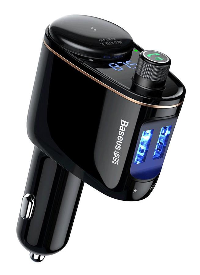 BASEUS FM transmitter και φορτιστής CCALL-RH01, 3.4A, USB, BT, μαύρο - BASEUS 26648
