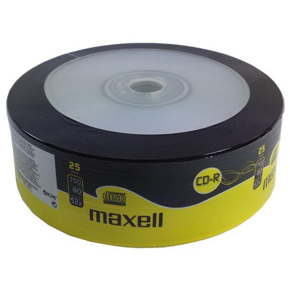 MAXELL CD-R 80min, 700ΜΒ, 52x, 25τμχ Spindle pack - MAXELL 726