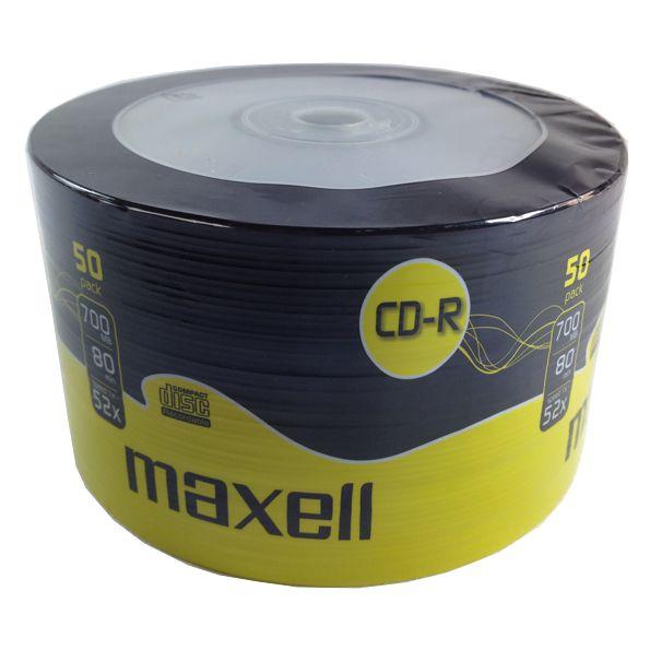 MAXELL CD-R 80min, 700ΜΒ, 52x, 50τμχ Spindle pack - MAXELL 728