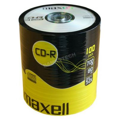 MAXELL CD-R 80min 700mb 52x 100 Spindle - MAXELL 729