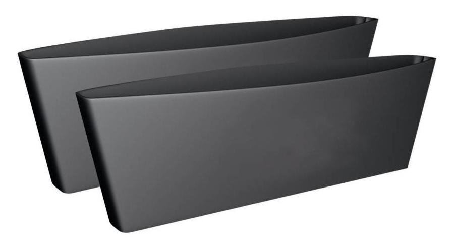 Θήκη καθισμάτων αυτοκινήτου CD011124, πλαστική, μαύρη, 2τμχ - UNBRANDED 26835